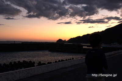 夕焼け-広野公園その1